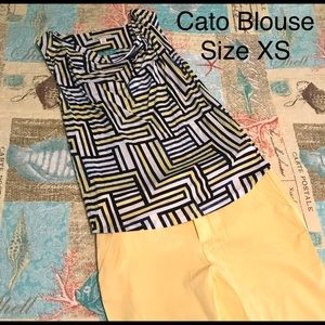 Cato Business Casual Blouse w/ Cowl Neck Size XS